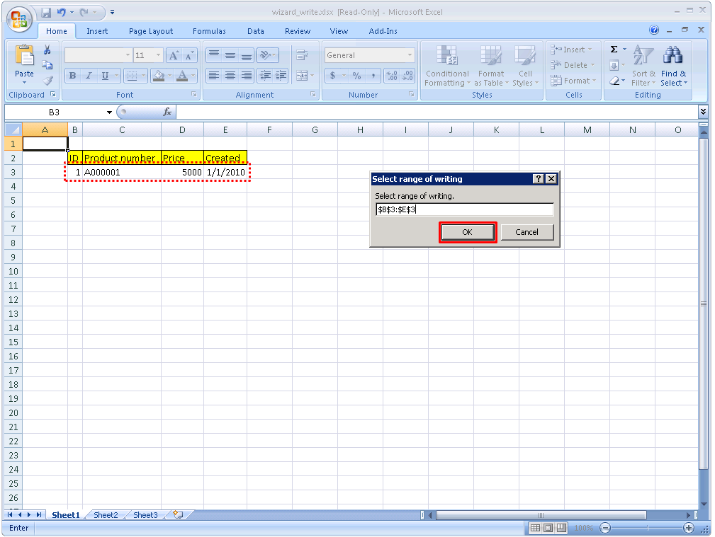 Excel] Excel Write Wizard