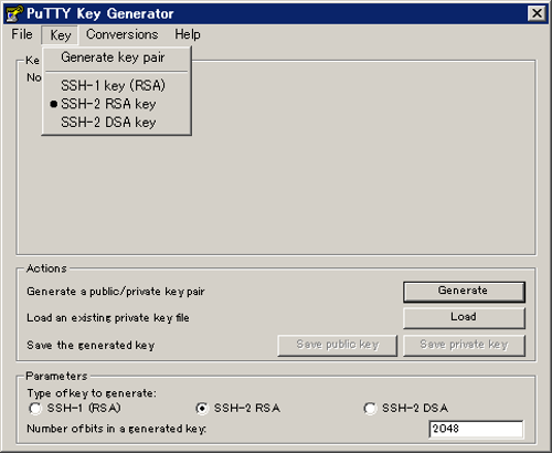 ssh-keygen rsa 2048