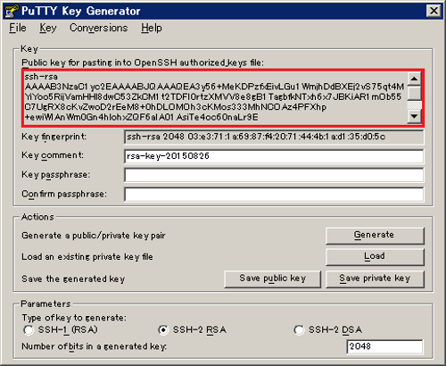 Generating SSH private key and public key